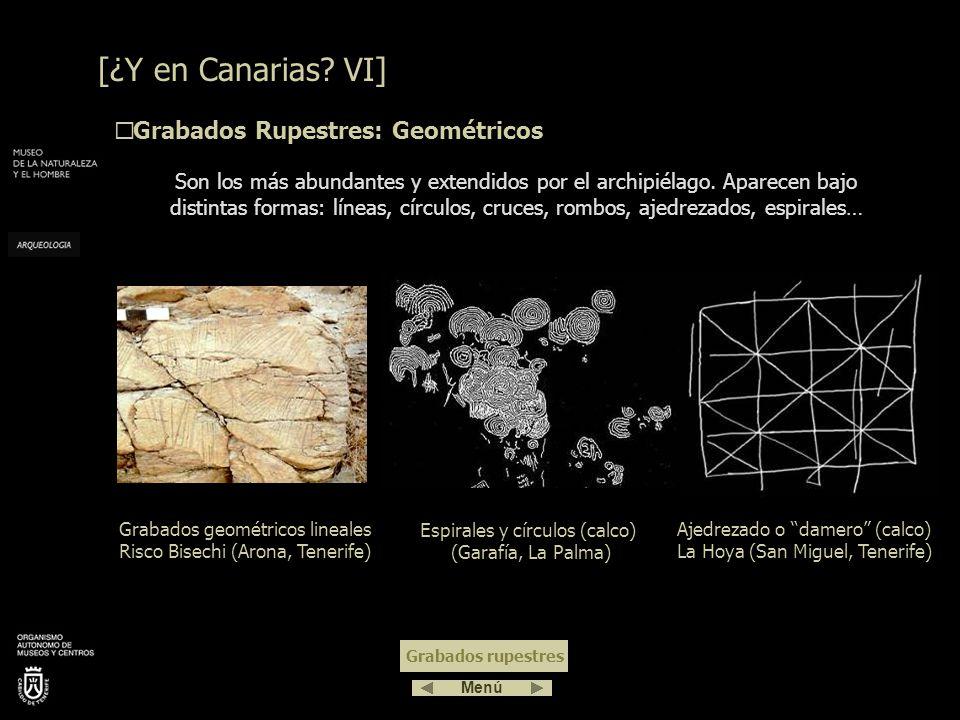 [¿Y en Canarias VI] Grabados Rupestres: Geométricos